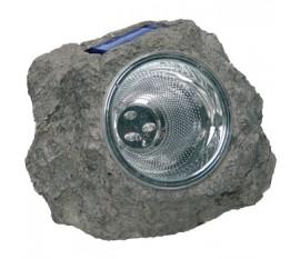 Rocher LED solaire plastique