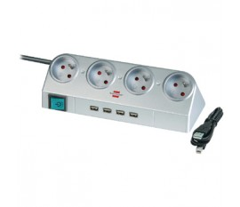 Extension socket Desk-Top Power 4-way + 2.0 USB HUB