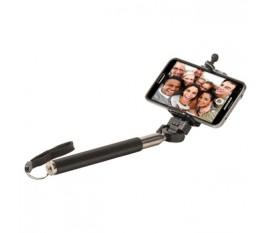 Bâton pour selfie extensible avec poignée antidérapante et lanière de sécurité