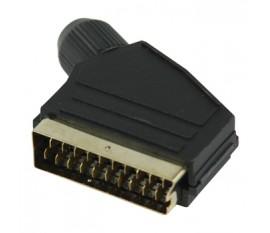 Connecteur PÉRITEL avec adaptateur PÉRITEL mâle noir