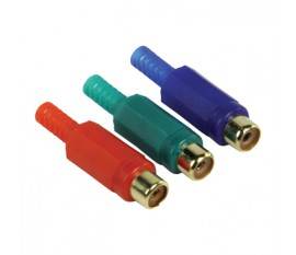 video connector RCA female red + green + blue
