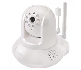 Caméra réseau intelligente HD, Wi-Fi, orientable avec capteur de température et d'humidité, Jour et Nuit