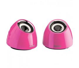 Jeu de deux haut-parleurs portables2.0 alimenté par USB 3W rose