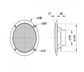 Haut-parleur à large bande 4 Ω 80 W