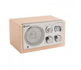 Radio de table rétro en bois clair
