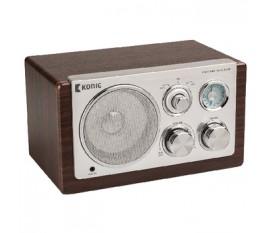 Radio de table rétro en bois foncé