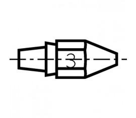 Buse à enficher DX113HM pour fer à déssouder DSX80, DXV80.