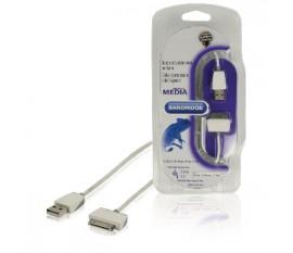 Câble de synchronisation & charge pour iPod/iPhone/iPad 1.00 m blanc