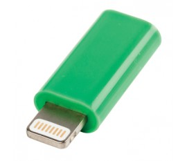 Adaptateur USB lightning mâle - Micro USB B femelle vert