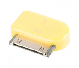 Adaptateur dock 30 broches connecteur dock 30broches mâle - Micro USB B femelle jaune