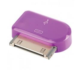 Adaptateur dock 30 broches connecteur dock 30 broches mâle - Micro USB B femelle violet