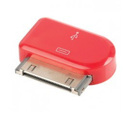 Adaptateur dock 30 broches connecteur dock 30 broches mâle - Micro USB B femelle rouge