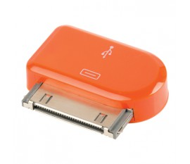 Adaptateur dock 30 broches connecteur dock 30 broches mâle - Micro USB B femelle orange
