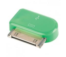 Adaptateur dock 30 broches connecteur dock 30 broches mâle - Micro USB B femelle vert