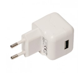 Chargeur USB A femelle pour USB CA – connecteur CA blanc pour maison 2.1A