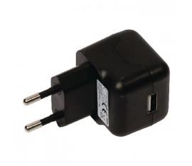 Chargeur USB A femelle pour USB CA – connecteur CA noir pour maison 2.1A