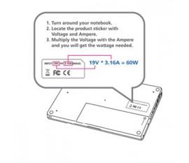 Adaptateur allume-cigare universel pour ordinateur portable 12V 120W