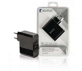 Adaptateur universel à deux ports USB 2.4A et 2.4A