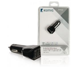 Adaptateur allume cigare universel à deux ports USB 2,1A et 2,1A