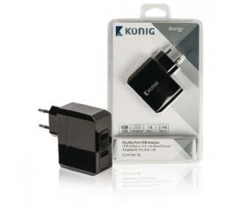 Adaptateur universel à deux ports USB 1A et 2,4A