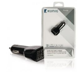Adaptateur allume cigare universel à deux ports USB 1A et 2,1A