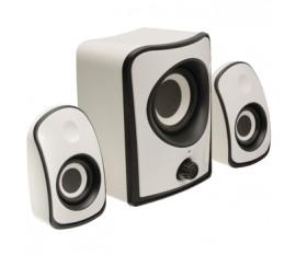 Jeu de haut-parleurs 2.1 blanc