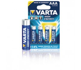 Piles alcalines AAA/LR03 1.5 V High Energy 4pcs/blister
