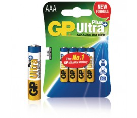 Piles alcalines AAA/LR03 1.5 V Ultra Plus 4pcs/blister
