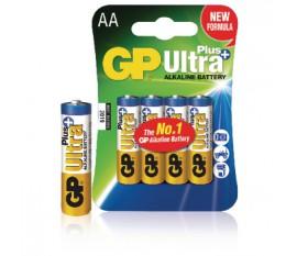 Piles alcalines AA/LR6 1.5 V Ultra Plus 4pcs/blister