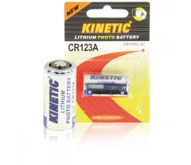 CR123 lithium photo battery 3 V 1200 mAh 1-blister