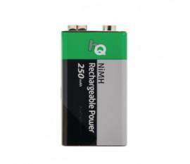 1piles 9V Ni/MH rechargeables 250mAh HQ sous blister