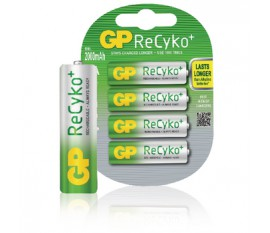 Batteries NiMH AA/LR6 1.2 V 2050 mAh ReCyKo+ 4-blister