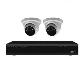 Monacor IOZ-204DV Set de surveillance vidéo