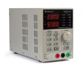 ALIMENTATION DE LABORATOIRE PROGRAMMABLE 0-30 VCC 5 A max. - avec INTERFACE USB 2.0 / AVEC DOUBLE AFFICHEUR LED