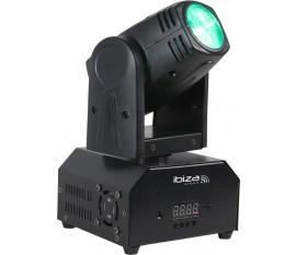 LYRE BEAM A LED RVBB 10W DMX AVEC TELECOMMANDE