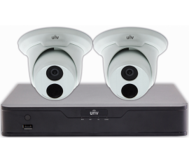 LVK010 SECURITY CAMERA KIT: 2X DOME CAMERAS + 4-CHANNEL NVR