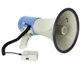 MÉGAPHONE AVEC SLOT POUR CARTE SD et USB - 25W