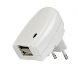 CHARGEUR AVEC DOUBLE CONNEXION USB - 5V-2A, 10W