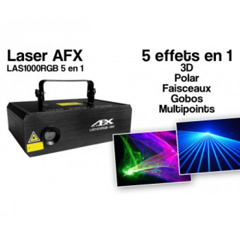 Laser Multicolore AFX Light - LAS 1000RGB 5 in 1