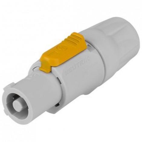 Connecteur Haut-parleur Power Plug Mâle PVC Gris /Bleu