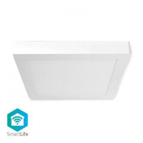 Éclairage de Plafond Intelligent avec Wi-Fi | Carré | 30 x 30 cm | Blanc Chaud à Blanc Froid | RGB Couleur | 1 400 lm | 18 W | Design Fin | Aluminium