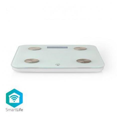 Pèse-Personne Intelligent Wi-Fi   IMC, Graisse, Eau, Os, Muscles, Protéines   Verre Trempé   8 Utilisateurs
