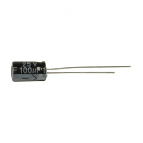 Ra.electr. capac. 100uf 25 V 105°
