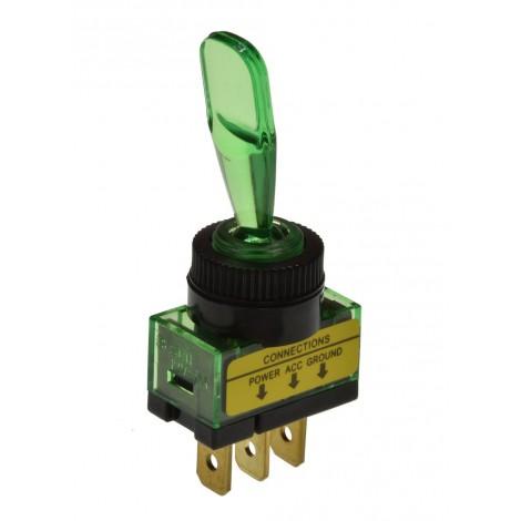 Interrupteurs à levier 12V 20A Illuminé ( ROUGE ou VERT ou ORANGE )