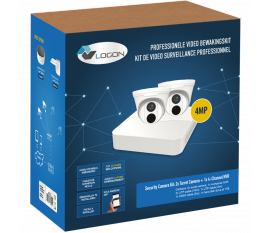 LVK205 SECURITY CAMERA KIT: 2X DOME CAMERAS + 4-CHANNEL NVR