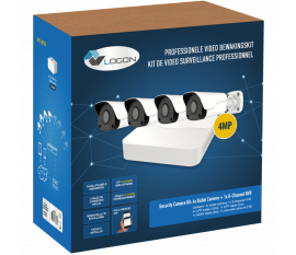 LVK-210 SECURITY CAMERA KIT: 4X BULLET CAMERAS 4MP + 8-CHANNEL NVR + HDD 1Tb