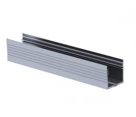 POWERLINE - PROFILÉ EN ALUMINIUM POUR RUBAN LED - LARGEUR 35 mm - ALUMINIUM ANODISÉ - ARGENT - 2 m