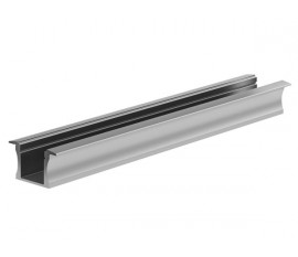 RECESSED SLIMLINE 15 mm - PROFILÉ EN ALUMINIUM POUR RUBAN LED - À ENCASTRER - ALUMINIUM ANODISÉ - ARGENT - 2 m