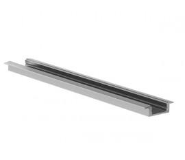 RECESSED SLIMLINE 7 mm - PROFILÉ EN ALUMINIUM POUR RUBAN LED - À ENCASTRER - ARGENT - 2 m