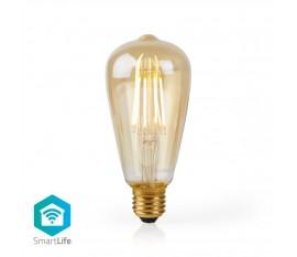 Nedis Ampoule à Filament LED Intelligente Wi-Fi | E27 | ST64 | 5 W | 500 lm